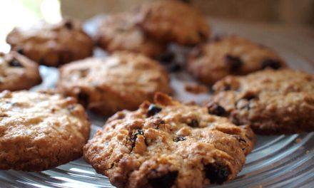 Recette sans gluten sans lactose : cookies aux raisins secs et noix du Brésil