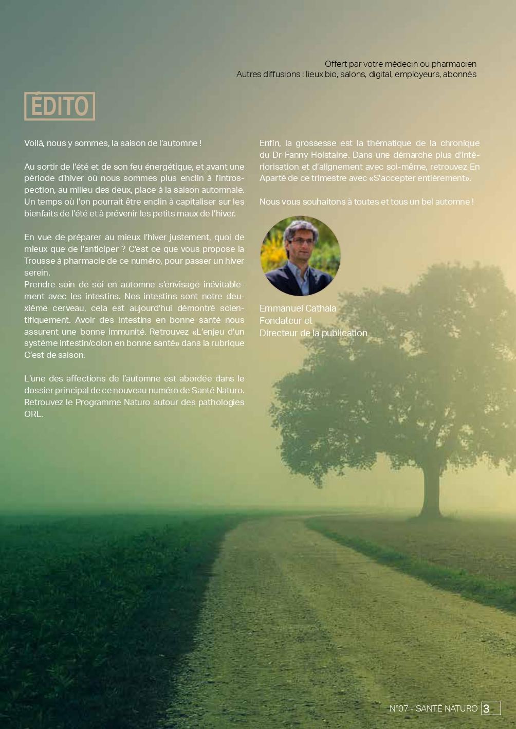 SANTE NATURO 08 DB Pages - santé naturelle intégrative - naturopathie - édito
